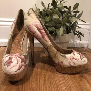 Floral Aldo heels.